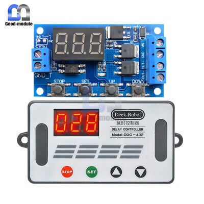 Digital 12v 24v Trigger Cycle Timer Delay Controller Tube Dual Mos Control Board