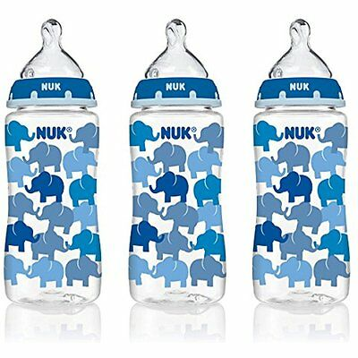 NUK Baby Bottle with Perfect Fit Medium-Flow Nipple, 10oz 3p