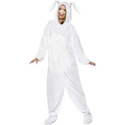 Smi - Unisex Kostüm weißer Hase Kaninchen Karneval - Kaninchen Kostüm