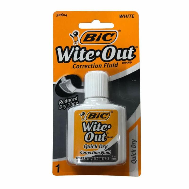 Bic Wite Out Quick Dry Correction Fluid 20 ml White