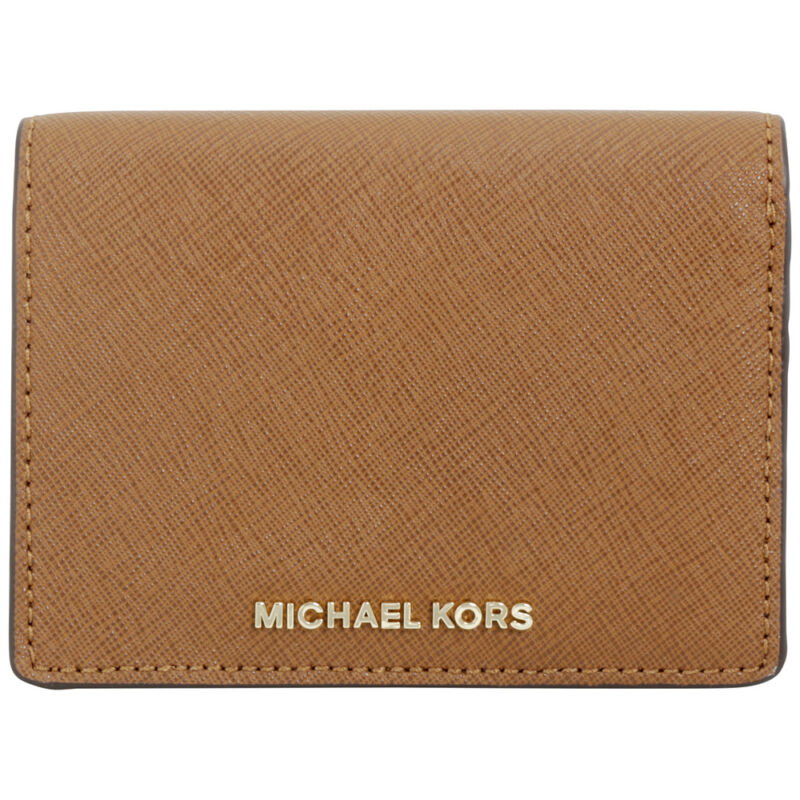 Michael Kors Jet Set Travel Brown Leather Billfold Ladies Wallet 32F6GTVF6L