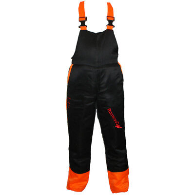 Chainsaw Forestry Safety Bib And Brace / Trousers Rocwood Small 30