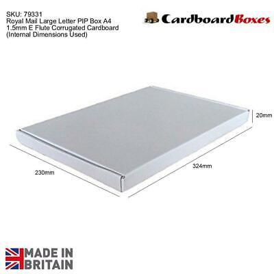 Large Letter PIP Box Royal Mail A4 Cardboard Postal Boxes 324 x 230 x 20mm White