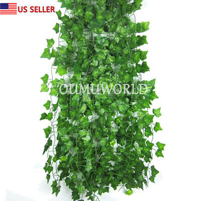 Artificial Ivy Leaf Fake Ivy Vine Garlands Decor Hanging for Wedding Party 12pcs