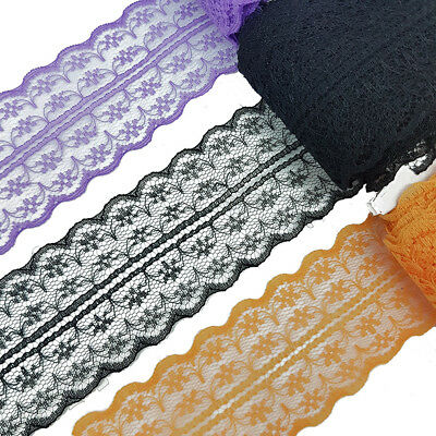 3 x 1 Metre Lace Trimming 47mm Laces Sewing Costume DIY Halloween Decoration UK - Halloween Decorations Diy Uk