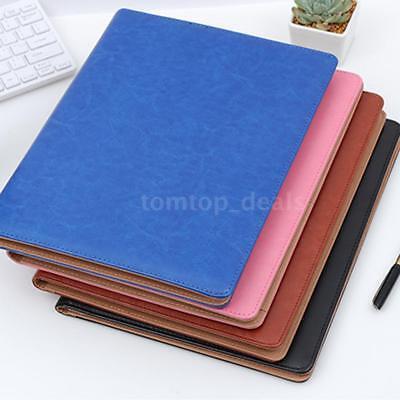 A4 Pu Leather Portfolio Business Meeting Folder Organiser Case Wcalculator H2q6