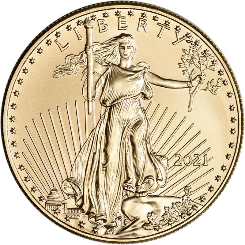 2021 American Gold Eagle 1 oz $50 - BU