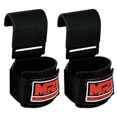 MRX Power Weight Lifting Training Gym Straps Hook Bar Wrist Support Lift Wraps