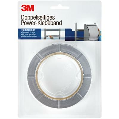 3M Doppelseitiges Power-Klebeband, ultrastark , grau B:19 mm x L:5 m