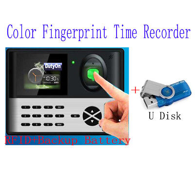 NEW BIOMETRIC FINGERPRINT ENTRY TIME CLOCK With RFID+backup battery