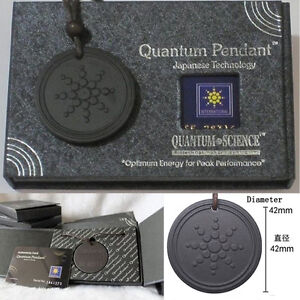1pc Quantum Pendant Necklace Scalar Orgon Energy neg ions EMF Protection black