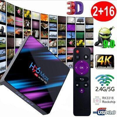 H96 Max Smart Android 9.0 TV Box 2GB / 16GB Quad Core UHD 4K Wifi Media Player