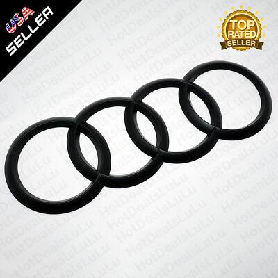 AUDI Matte Black Trunk Luggage Lid Rings Badge Logo Emblem Decoration Modified