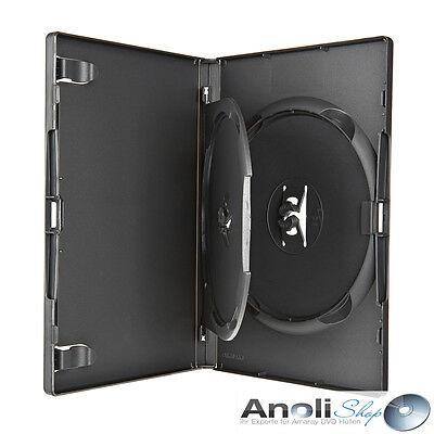 Amaray DVD Hülle Schwarz für 2 Disc DVD,BluRay Doppelbox mit Einleger 6 Hüllen