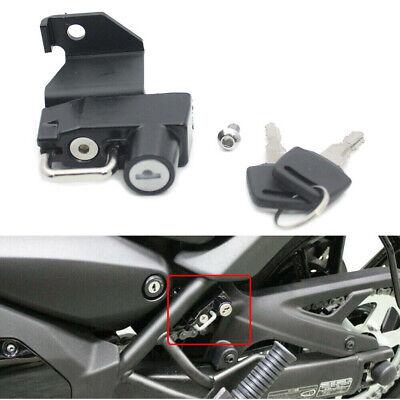 Motorcycle Helmet Lock + Key Set Parts For Kawasaki VN650 Vulcan S 2015-21 Black