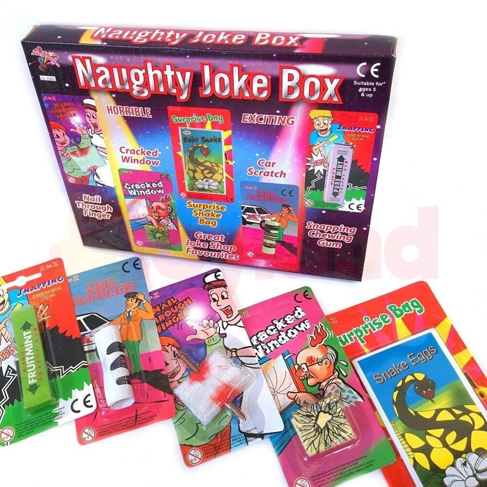 Vilain Blague Blague BOX 5 Pc Set Gag Garçon cadeau anniversaire fête sac Filler