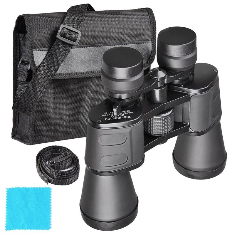 180x100 Zoom Day/Night Vision Outdoor Travel Binoculars Hunting Telescope w/Case