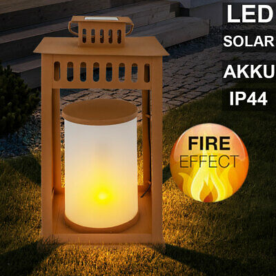 LED Solar Outdoor Lantern Stand Stand Table Lamp Deco Garden Fire Effect Lamp