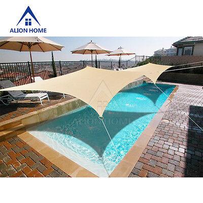 - Sun Shade Sail Banha Beige Rectangle HDPE Mesh 85% UV Block + 6in Hardware Kit