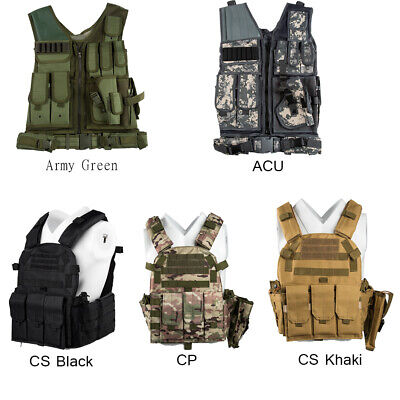 Plate Carrier Vest Tactical Military Police Airsoft Combat Assault Game Vest US
