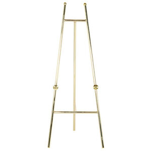 New-60-Decorative-Display-Easel-Brass-Finish