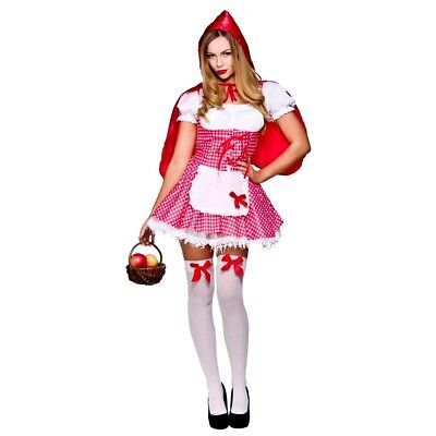 Adult Raunchy RED RIDING HOOD Fancy Dress Ladies Story Book Costume UK Size - Raunchy Kostüm