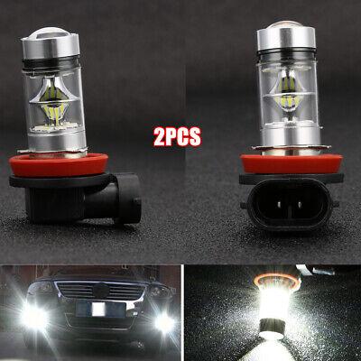 2X DRL H8 H11 H9 6000K 100W High Power LED Headlights/Fog Light Driving Bulbs