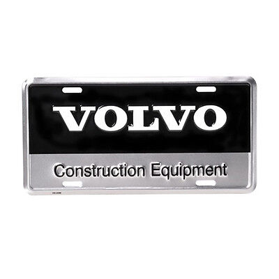 Volvo Construction Equipment Black & Silver Metal Aluminum Novelty License Plate