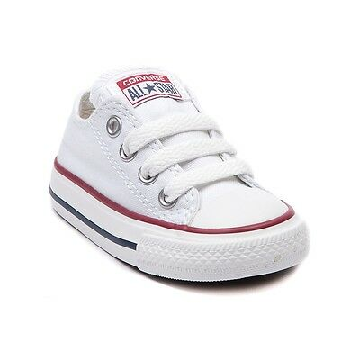 Converse All Star Low Chucks Infant Toddler Optical White Canvas Shoe 7J256 - Baby Clothes Converse