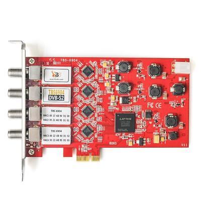 Tv-tuner-quad (TBS 6904 DVB-S2 Satellite TV Tuner Quad PCIe Card UK Stock FREE P&P)