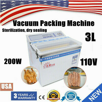 Vacuum Packing Sealing Machine Sealer 200w Packaging Industrial Chamber 110v Us