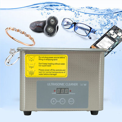 0.8l Industrial Ultrasonic Cleaner Jewelry Clean Machine 35w Power Stainless Us