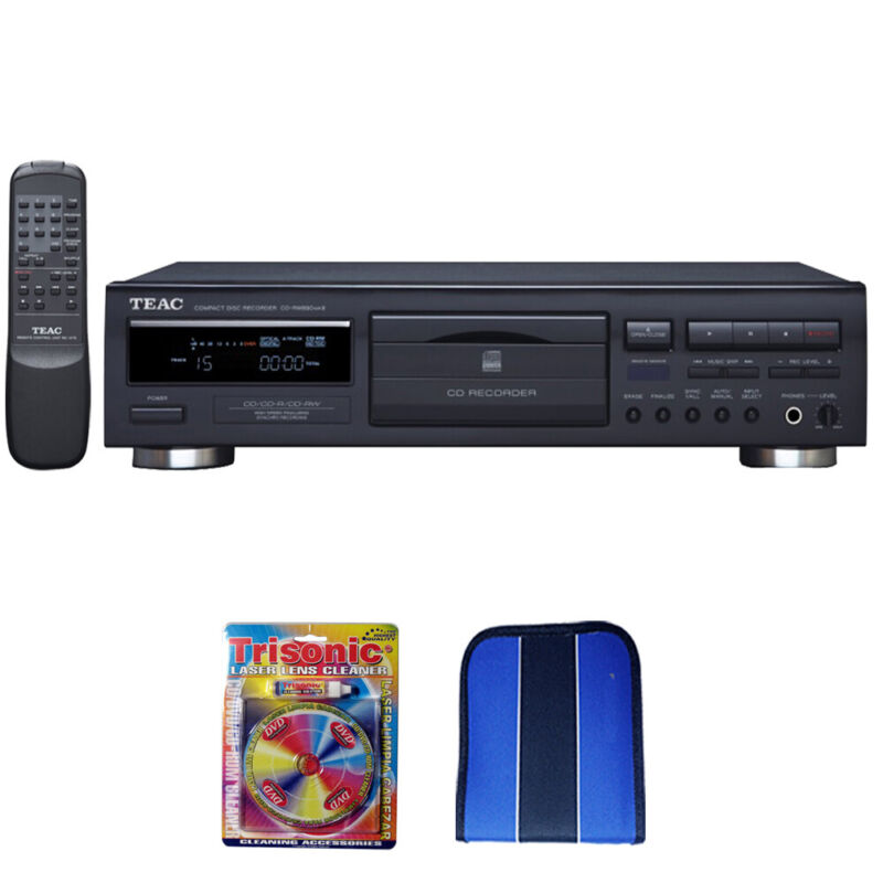 TEAC CD Recorder with Advanced Auto-Record Functions Black CD-RW890MKII-B