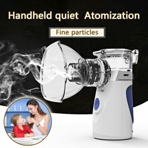 Portable Ultrasonic Mini Nebulizer Inhaler Battery USB Operated Asthma Machine
