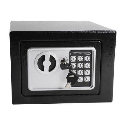 Steel Handgun Safe Chest Digital Security Gun Box Electronic Lock Jewelry Vault