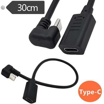30cm U Angled 90Degree USB-C USB 3.1 Type-C Male to Female Extension...