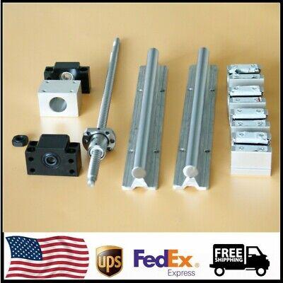 1x Sbr16 Linear Rail Sliding Guide Sfu1204 Ballscrew Set For Cnc L500-1000mm