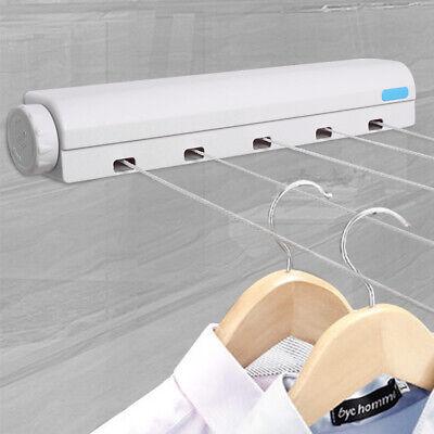 5 Leinen Wandtrockner Wäscheleine ausziehbar automatisch Wand Trockner Wäsche DE