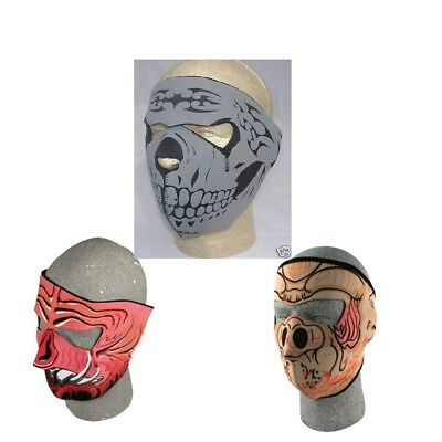Black Pig Mask (Lot of 3 Neoprene Full Face Mask Grey Skull Pig Hog and Razor Back Reverse)
