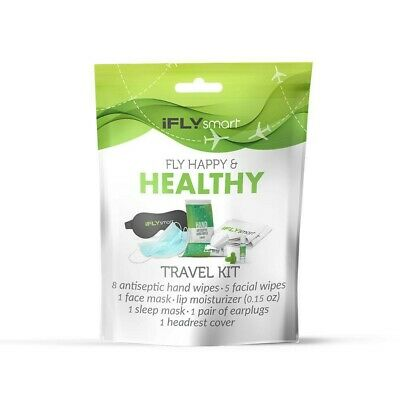 iFly Smart Fly Travel Happy Healthy Travel Kit  Wipes, Sleep & Face Mask & More
