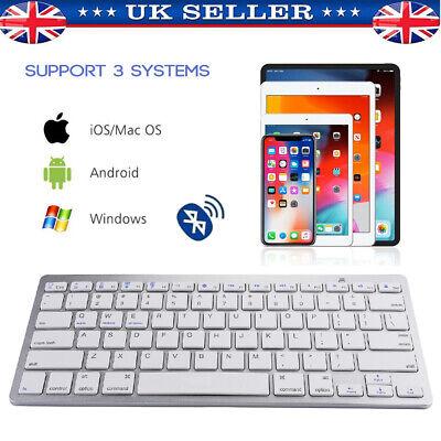 Bluetooth 3.0 Wireless Keyboard Slim For Mac iPad IOS Android Apple Tablet PC UK