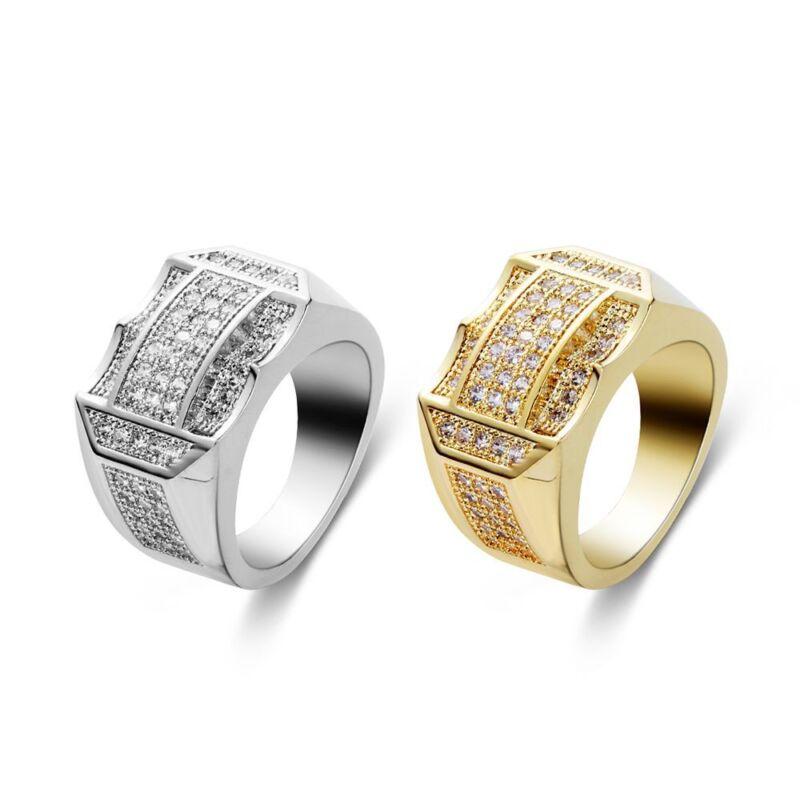 Crystal Rhinestone Rings Gold Silver