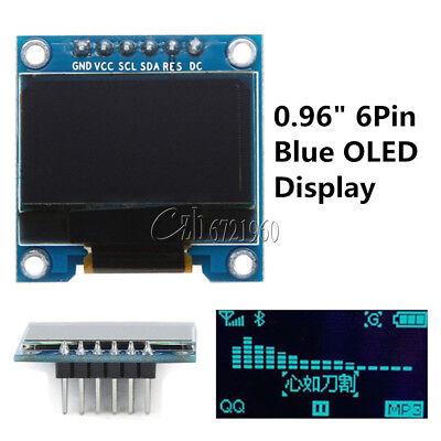 Blue 0.96 6pin Oled Display Module 12864 Spi Iic I2c For Arduino Raspberry Pi