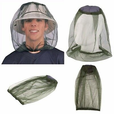 2 x Midge Mosquito Insect Hat Bug Mesh Head Net Face Protector Travel Camping UK
