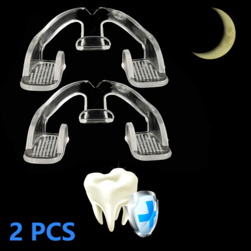2 PCS Dental Mouth Guard Bruxism Sleep Aid Night Teeth TMJ Tooth Grinding Case Health & Beauty