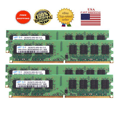 - For Samsung 2GB 4GB 8GB DDR2 800MHz PC2-6400U DIMM Desktop RAM memory intel CPU
