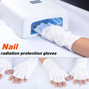 Anti UV Glove Light Radiation Protection Gloves Manicure Nail Art Dryer Tool New