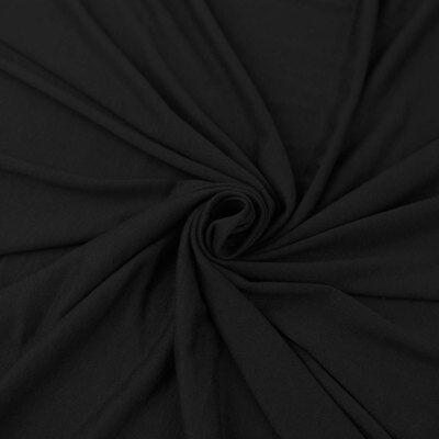 Cotton Lycra Spandex Knit Heavy 12oz Jersey by the Yard Black
