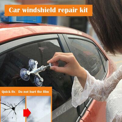 US Aluminum Alloy Car Windshield Glass Crack Chip Windscreen Repair DIY Tool KIT