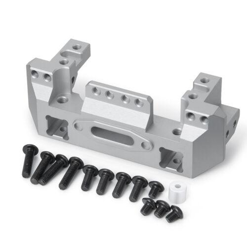 Aluminum Front Bumper w/ Servo Mount For 1/10 RC Crawler Tra